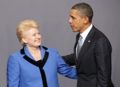 Grybauskaite met with US president Barack Obama at the summit. (photo- office of the president of Lithuania)