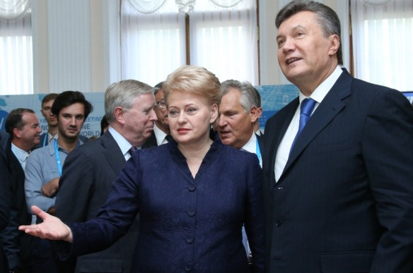 On September, 20 Dalia Grybauskaitė and Viktor Yanukovych met in Yalta to discuss the prerequisites for signing an Association Agreement. Author: Dž. G. Barysaitė